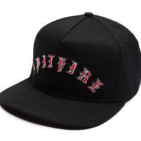SPITFIRE OLD E ARC SNAPBACK CAP BLACK