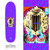 EVISEN CLUB W PURPLE DECK (8.8 x 31.75inch)