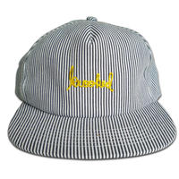 KROOKED SKRIPT INDIGO STRIPE SNAPBACK CAP
