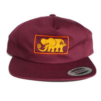 BLACK LABEL ELEPHANT FRAME SNAPBACK CAP
