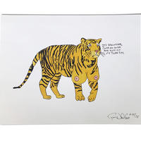 POROUS WALKER TIGER TITZ ART PRINT