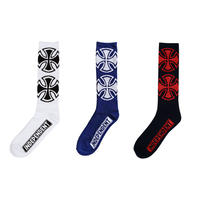 INDEPENDENT CROSSES CREW SOCKS