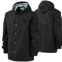 ANTI HERO  BLACK HERO  HOODED COACH JACKET