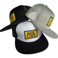 OUR LIFE  BARREL PATCH MESH CAP