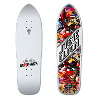 DEATHBOX STEVE OLSON WHITE DEATH STINGER DECK  (9.5 X 33.3inch)