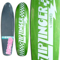 KROOKED ZIP ZINGER GREEN DECK  (7.75 x 30inch)
