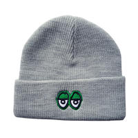 KROOKED EYES EMBROIDERED CUFF BEANIE