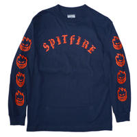 SPITFIRE OLD E L/S TEE NAVY