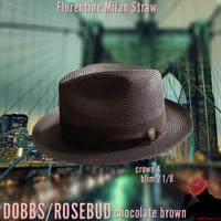DOBBS ROSEBUD Milan Straw【Chocolate Brown】58CM