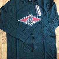 ベアー・サーフボード ジャストロゴ ロングTシャツ M【ダークグリーン】