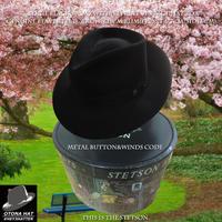 ステットソン・ボギー・ブラック【ビーバーファー】 59CM