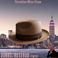 DOBBS ROSEBUD Milan Straw【cognac】59CM