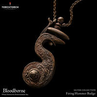 Bloodborne × TORCH TORCH SILVER COLLECTION/ Firing Hammer Badge
