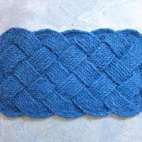 Infinity Coir Mat / 50cm×80cm / blue