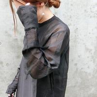 2019aw シースルードレスシャツ