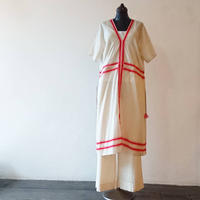 ANTIPAST Stripe Printed Cotton Dress