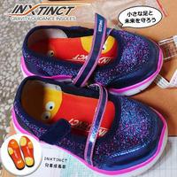 台湾製INXTINCTインソール【こども成長段階】赤ちゃんはみんな偏平足。4~5才から形成されるアーチを守り正しい歩行を身に着けます。大切な成長は一度きり■送料込■