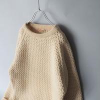 70s England heavy net knitting hand knit/unisex