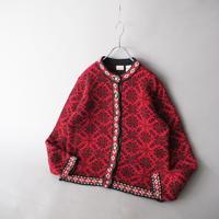 90s L.L.Bean Tyrol knit cardigan/for ladies'