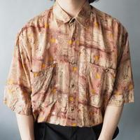 100% viscose pattern shirt/unisex