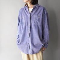 90s right purple color corduroy shirt/unisex