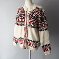 made in Tyrol nordic design knit cardigan/for ladies'