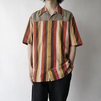 open collar stripe shirt