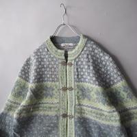 Tyrolean nordic knit cardigan/ladies'