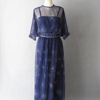 dolman sleeve sheer dress