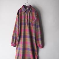 Italy  good quality fleece wool shirt dress