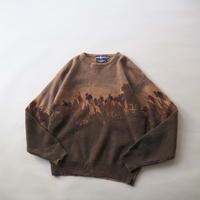 Ralph Lauren total pattern lambs wool knit  sweater/ladies'