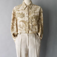 botanical linen shirt /for ladies'