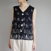 reversible People's daily life art design vest/ladies'