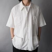 70s vintage  cuban shirt/unisex