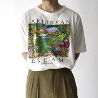 birds in jungle print T-shirt/unisex
