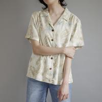 ladies' botanical & paisley aloha shirt