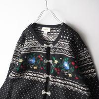 Tyrol mix design knit cardigan/for ladies'