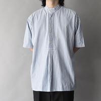 stripe band collar pullover shirt