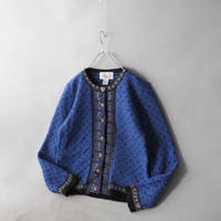 Tyrolean knit cardigan/ladies'