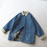 soft denim quilting+corduroy design jacket/unisex