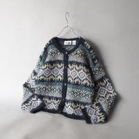 short length mohair knit cardigan