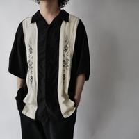 men's linen+rayon embroidery Cuban shirt