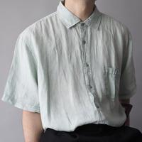 sherbet color 100%linen shirt/unisex