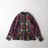 Tyrol design knit cardigan