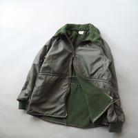 90s French military fleece double zip-up jacket/unisex