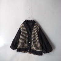 mohair wide sleeve knit cardigan/unisex