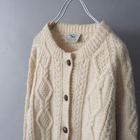 Ireland fisherman  knit cardigan/unisex