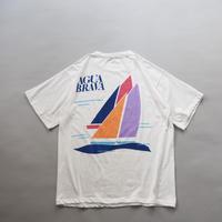 yacht print T-shirt /unisex