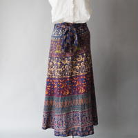 made  in India wrap long skirt