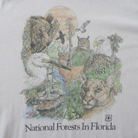 90's animal print T-shirt/unisex